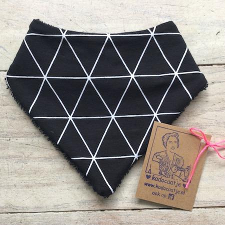 Bandana slab driehoek zwart wit