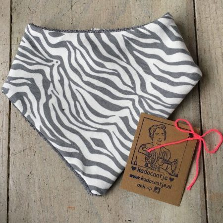 Bandana slab zebra grijs