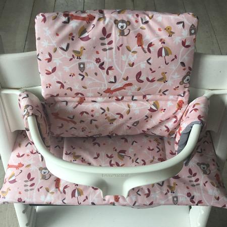 Stokke Tripp Trapp Kussenset Bosdiertjes roze