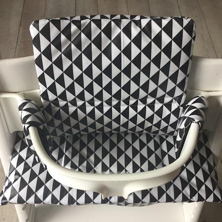 Stokke Tripp Trapp Kussenset Driehoekjes zwart wit