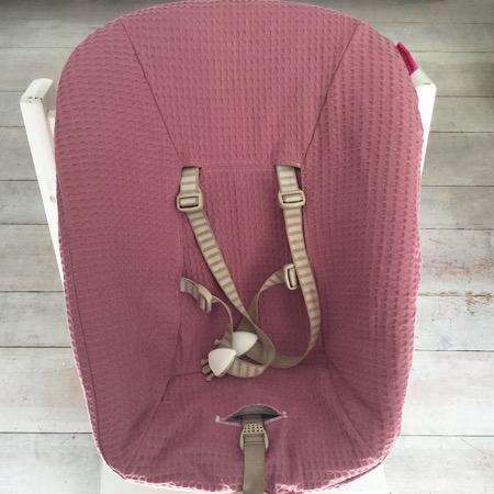 Stokke Newborn hoes Wafelkatoen oud roze