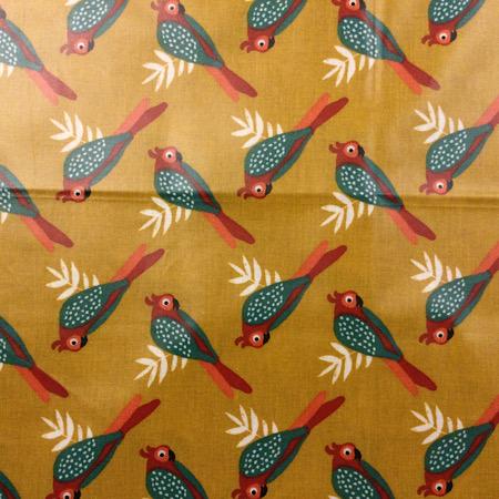 Op Bestelling Tripp Trapp Zitkussen vogels oker geel