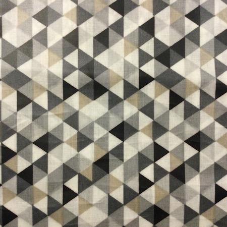Op Bestelling Stokke Steps kussenset driehoekjes zwart grijs