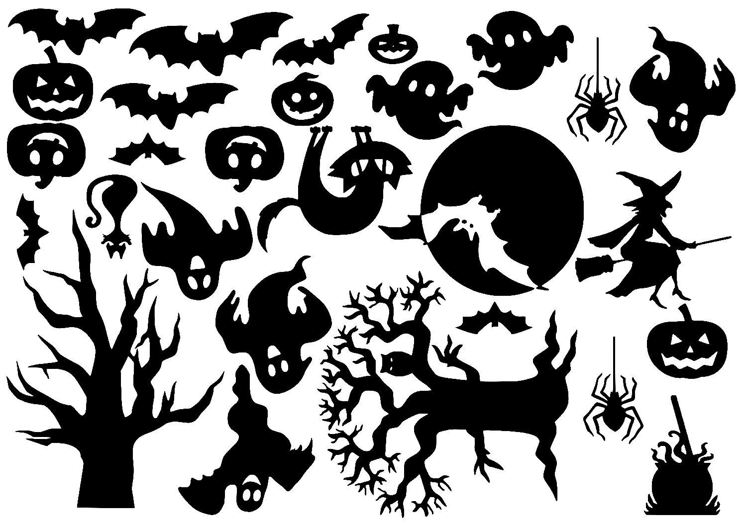 Halloween tafereel uitbreidingsset