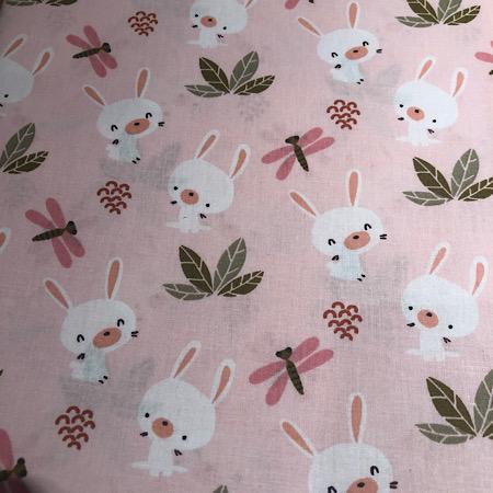 Op bestelling Stokke Newborn hoes konijntjes roze
