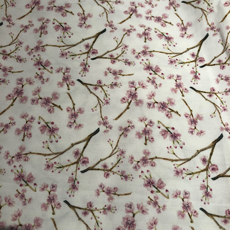 Op bestelling Stokke Newborn hoes nieuw model! Botanisch digitale print bloesem roze
