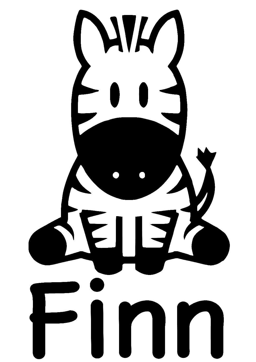 Geboorte sticker Finn
