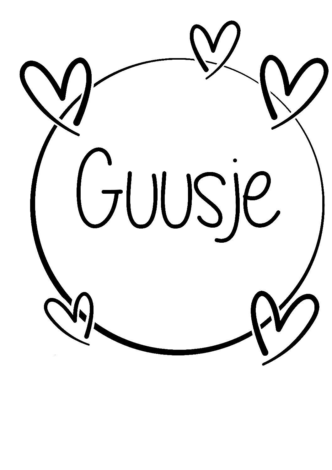 Geboorte sticker Guusje