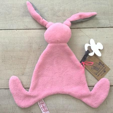 Tutlapje konijn roze
