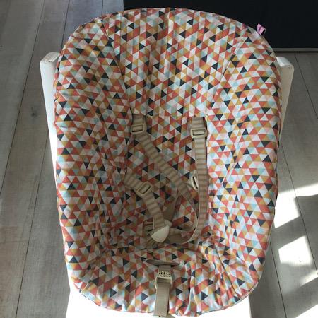 Stokke Newborn hoes Driehoekjes roze terracotta mint oker grijs