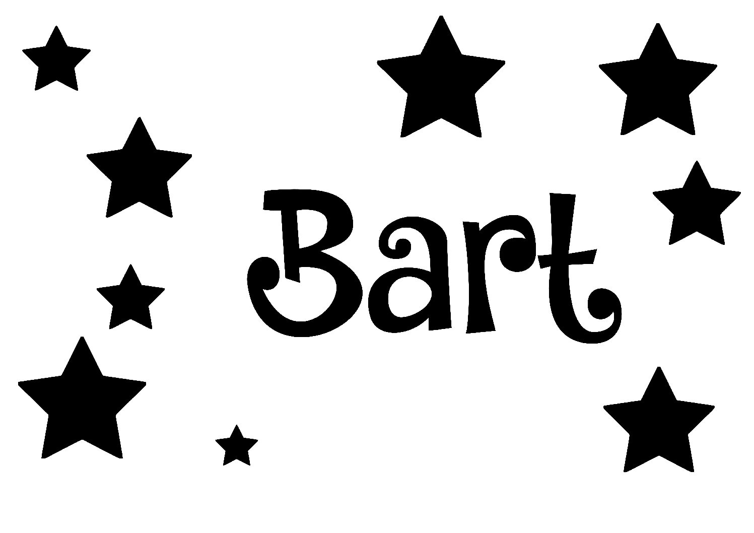 Geboorte sticker Bart