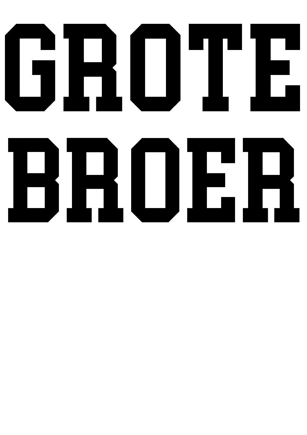 Strijkapplicatie grote broer