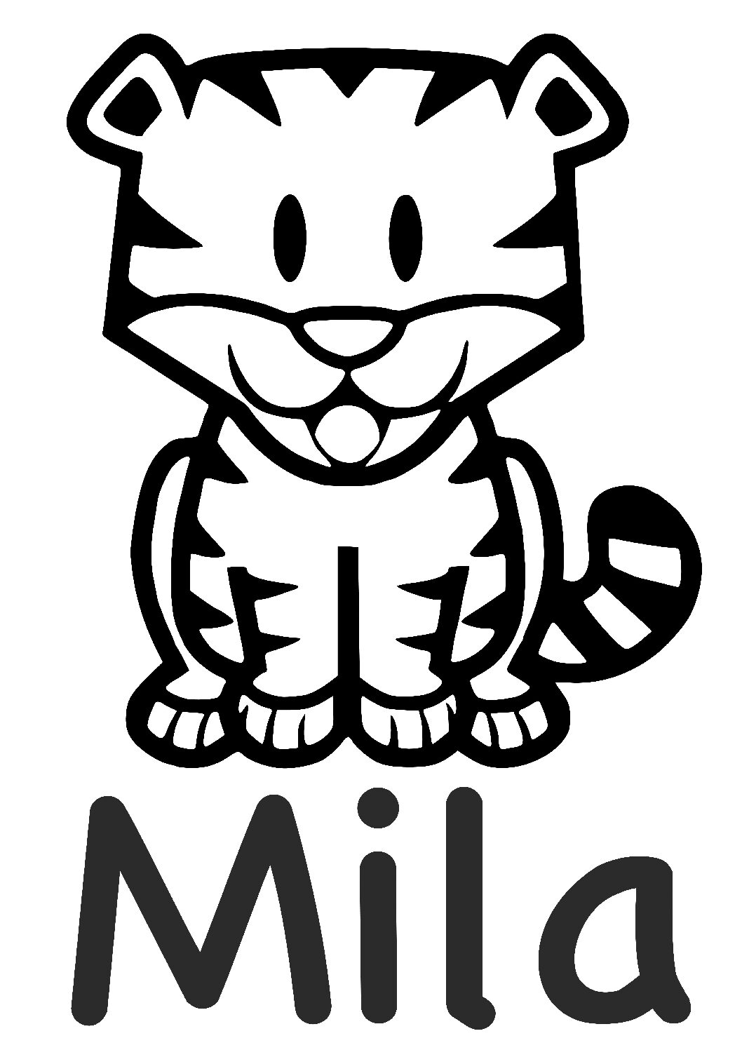 Geboorte sticker Mila