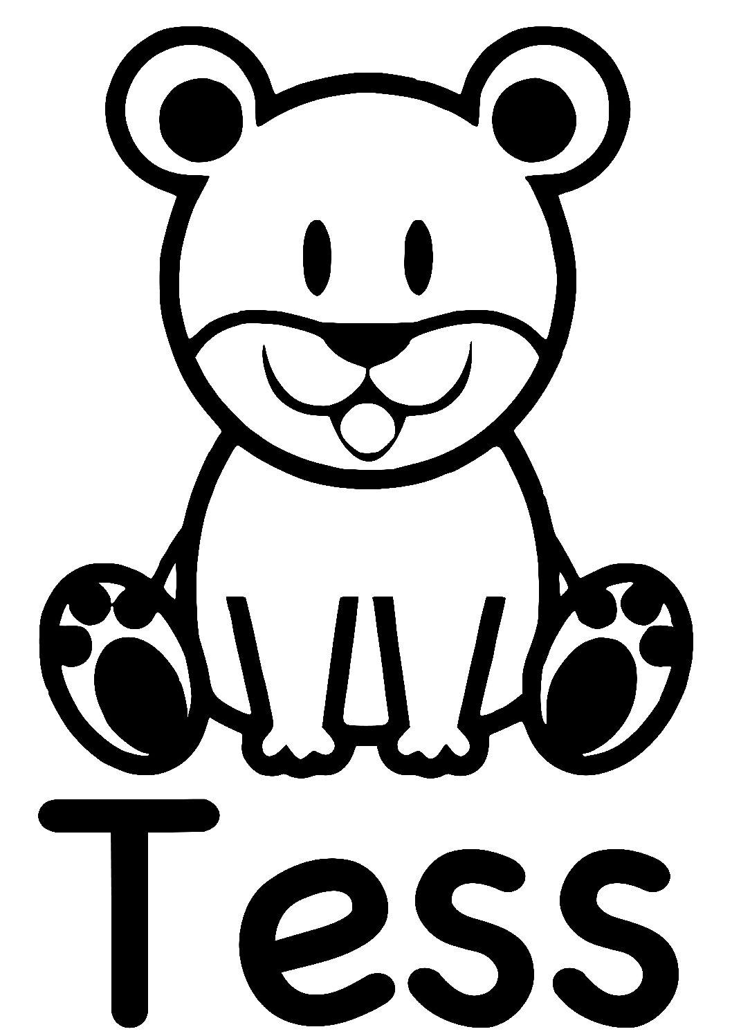 Geboorte sticker Tess