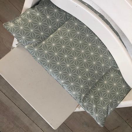 Tripp Trapp Zitkussen Geometrisch groen grijs