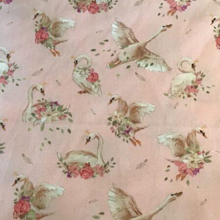 Stokke Newborn hoes Romantische zwaantjes roze